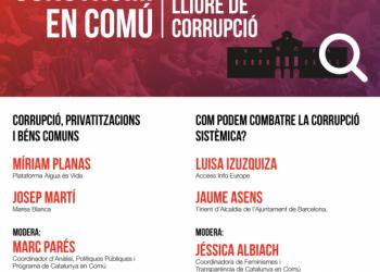 Construïm en Comú una Catalunya lliure de corrupció