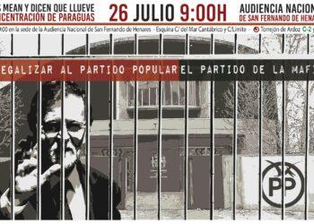 La Coordinadora 25S junto a decenas de colectivos se manifestará durante la declaración de Rajoy