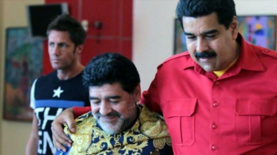 Maradona se ofrece como 'soldado' de Maduro contra imperialismo