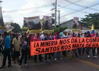 Colombia: A casi un mes de paro minero en Segovia, otra vez hubo fuerte represión y hay un segundo joven muerto