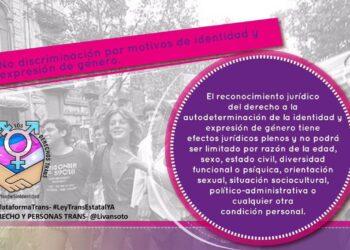 La Plataforma por los Derechos Trans presenta la campaña jurídica en redes sociales: #LeyTransEstatal