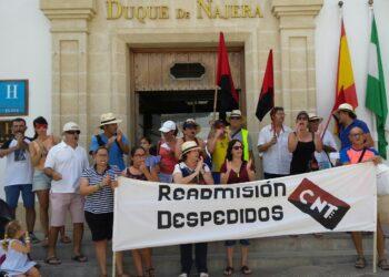 Conflicto de CNT-Rota contra la empresa Hotel Playa de la Luz S.A.