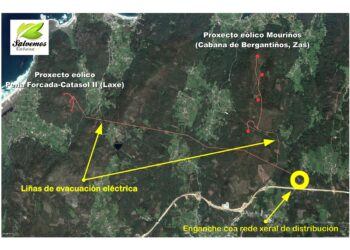 Salvemos Cabana presenta alegaciones a la línea de evacuación eléctrica del proyecto eólico Mouriños