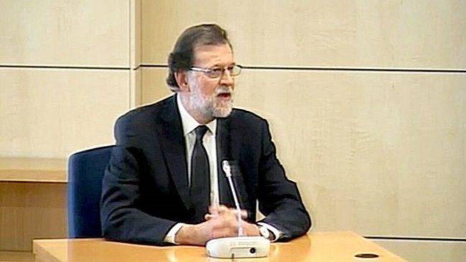 La 1 de TVE no emitió en directo la declaración judicial de Rajoy
