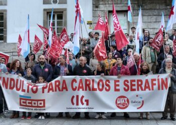 Concentración en Vigo para esixir o indulto de Carlos e Serafín