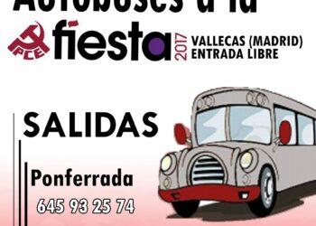 El PCE de El Bierzo pone autobús para la fiesta del PCE en Madrid