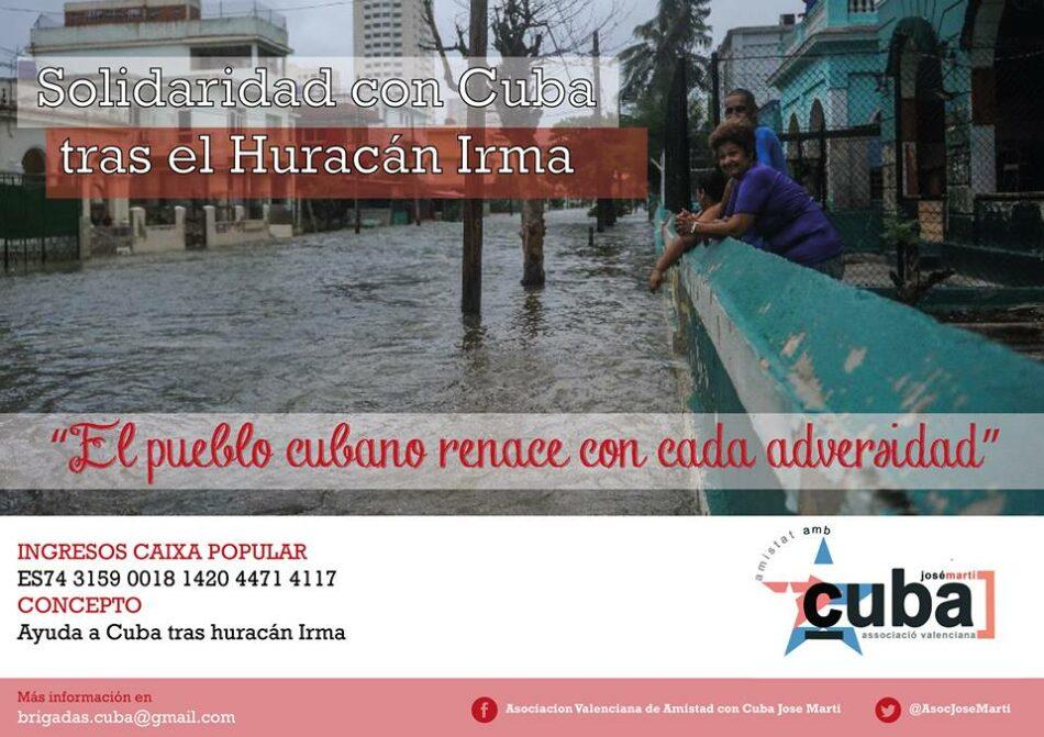 Campaña de solidaridad con Cuba tras el huracán Irma