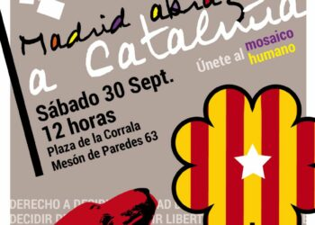 Acto: «Madrid abraza a Cataluña. Únete al mosaico humano»