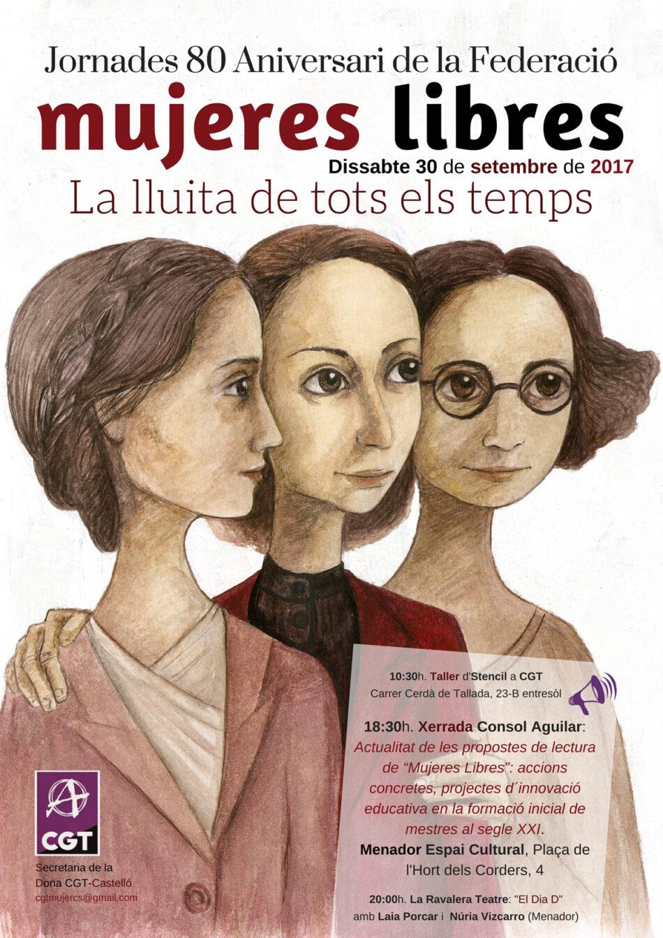 CGT-Castelló commemora el 80 aniversari de Mujeres Libres amb una jornada reivindicativa