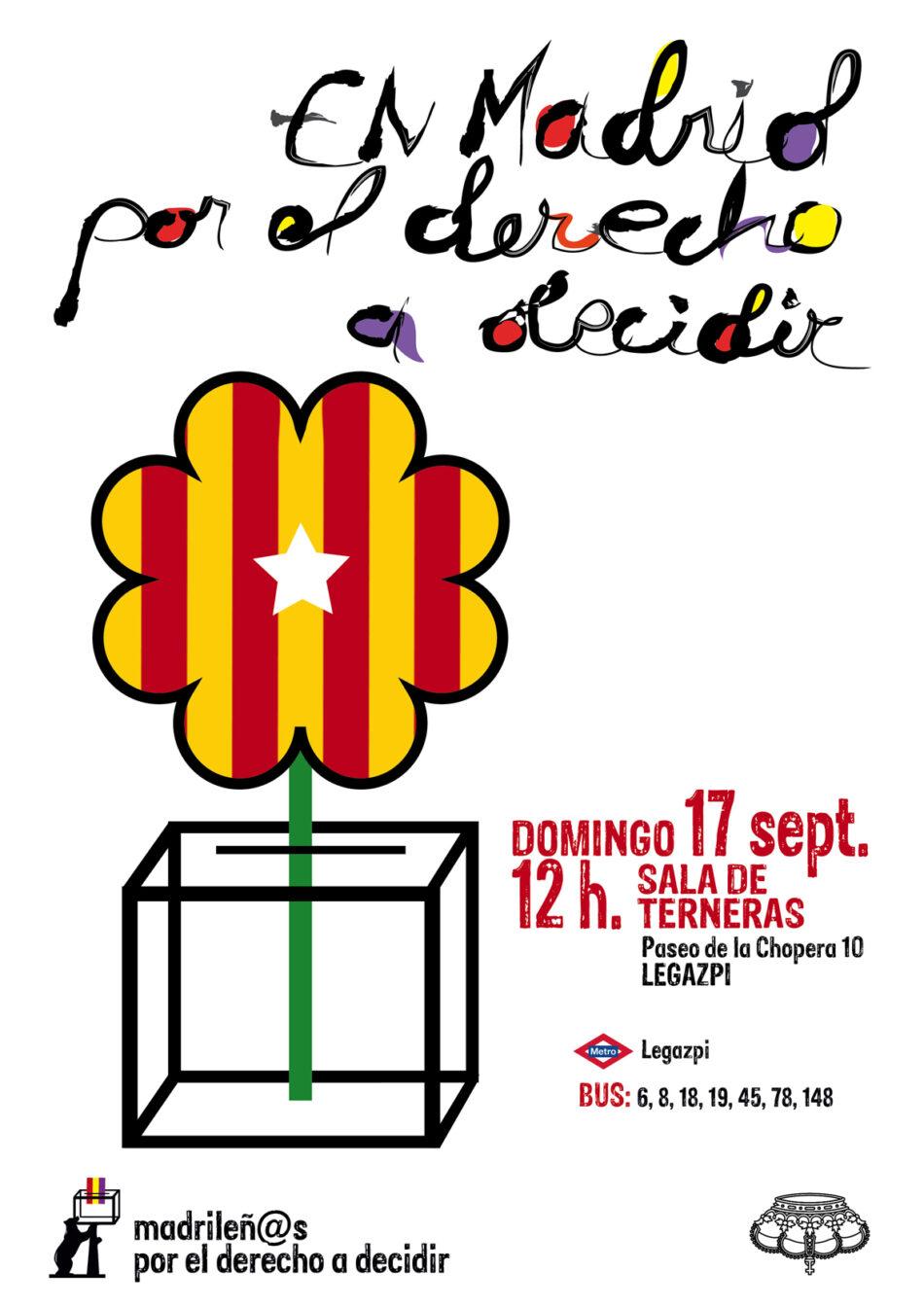 Celebrarán un acto en Madrid en favor del derecho de autodeterminación de Catalunya
