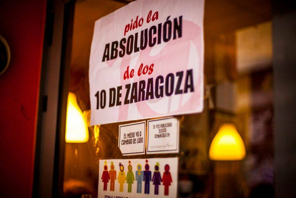 """Piden la solidaridad del Ayuntamiento con """"Los 10 de Zaragoza"""""""