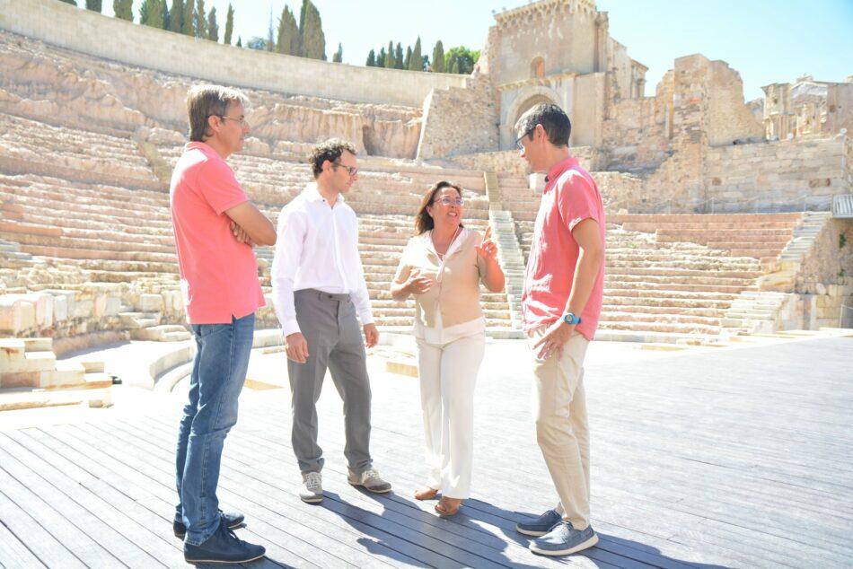 Investigadores de la UPCT aplican nanopartículas puras para consolidar sillares de arenisca del Teatro Romano