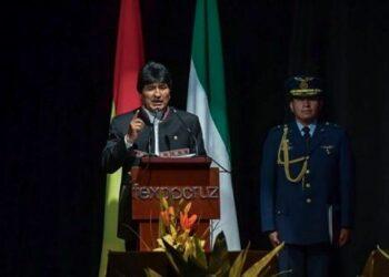 Evo destaca independencia de Bolivia de EE.UU., FMI y BM
