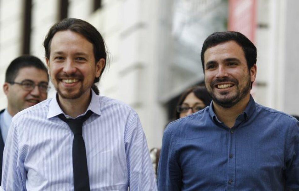 Garzón llama junto a Iglesias a «organizar a los perdedores de la criris y de la globalización»