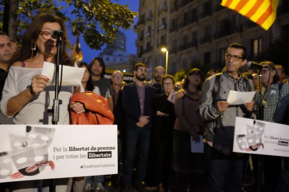 Acto en defensa de las libertades en Barcelona