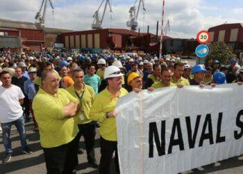 IU pide una intervención pública para salvar los puestos de trabajo de La Naval