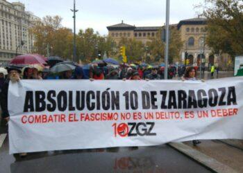 """""""Los 10 de Zaragoza"""" acuden al Parlamento Europeo"""