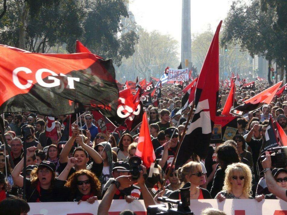 """CGT combatirá el terrorismo de Estado contra el pueblo catalán """"hasta sus últimas consecuencias"""""""