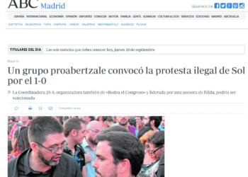 Garzón y Sánchez Mato ejercen el derecho de rectificación frente a una información de 'ABC' que pretende vincular su imagen y la de IU con la violencia y el terrorismo
