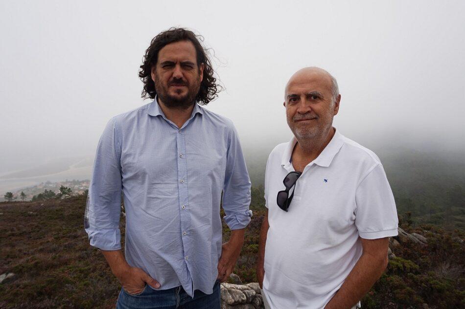 En Marea visita a zona afectada polo proxecto eólico Mouriños e denuncia o servilismo da Xunta a favor das eléctricas
