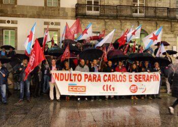 CIG, CCOO e UGT mobilizaranse diante da Subdelegación do Goberno de Pontevedra