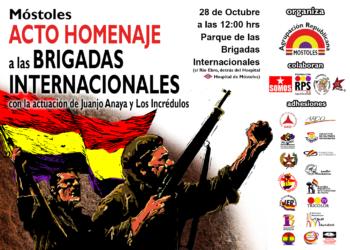 La Agrupación Republicana de Móstoles homenajeará a las Brigadas Internacionales