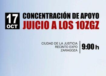 Cuenta atrás para el juicio de Los 10 de Zaragoza