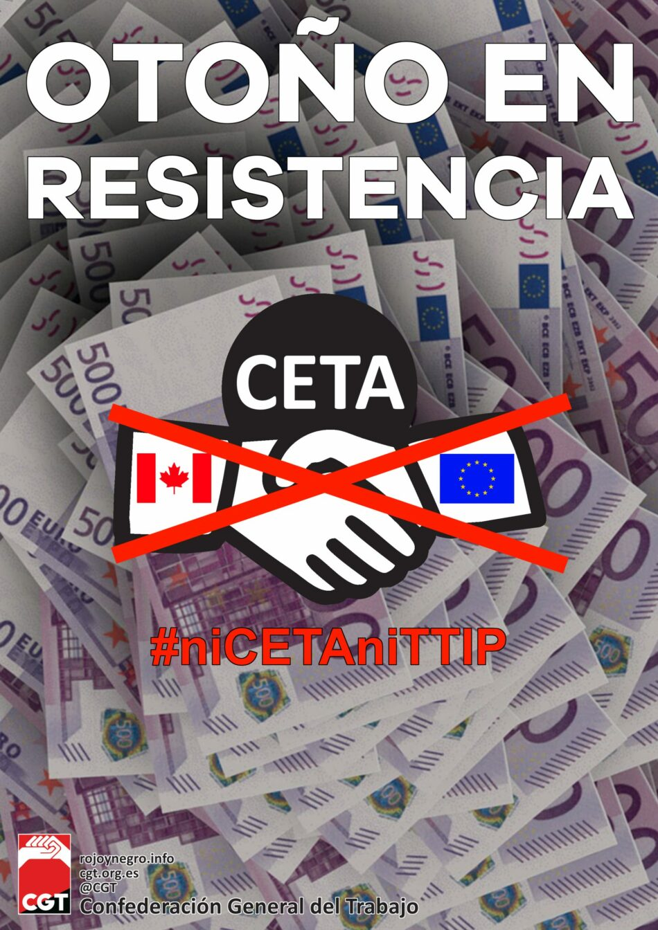 CGT reprocha a los defensores de la patria y la soberanía española que hayan entregado en bandeja derechos y libertades a las grandes multinacionales