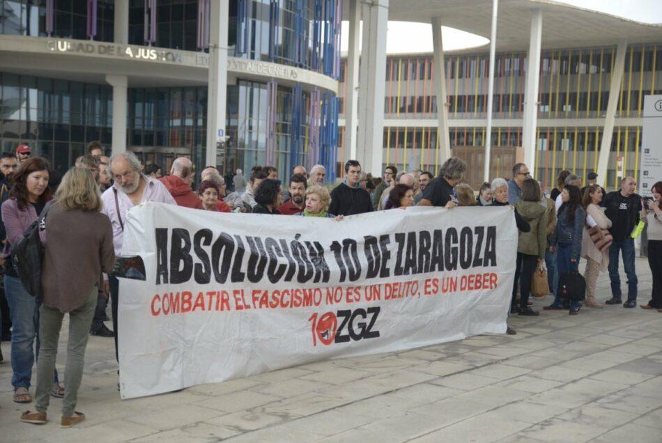 Se reducen a menos de dos años las penas para Los 10 de Zaragoza