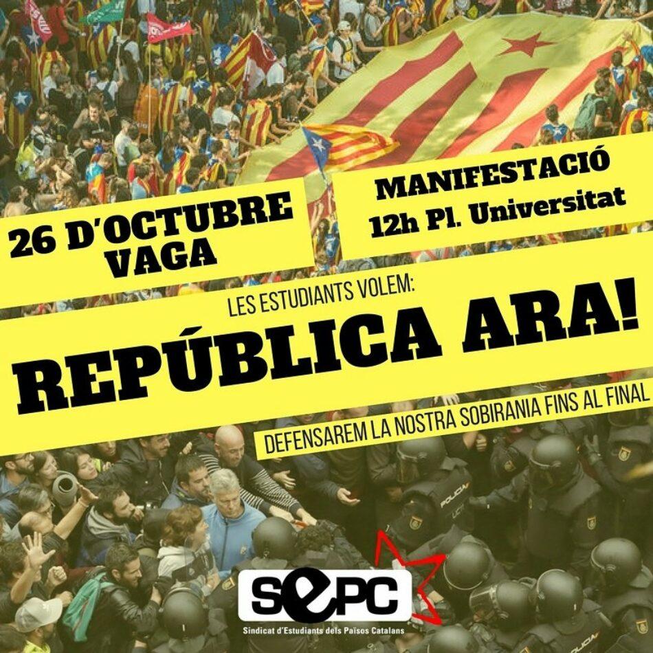 Comunicado del Sindicato de Estudiantes ante las mentiras y manipulaciones de algunos medios de comunicación sobre la Huelga del 25 y 26 de octubre