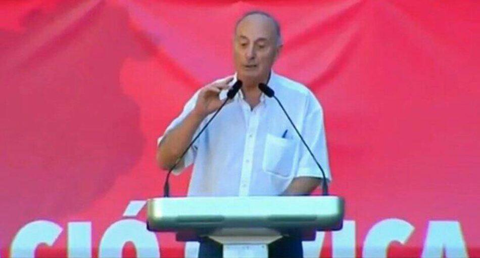 El PCE se desmarca de la manifestación españolista tras la intervención de Paco Frutos: «no nos representa»