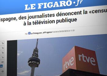 """IU denuncia en Bruselas la """"manipulación sistemática"""" del Gobierno en los informativos de TVE"""