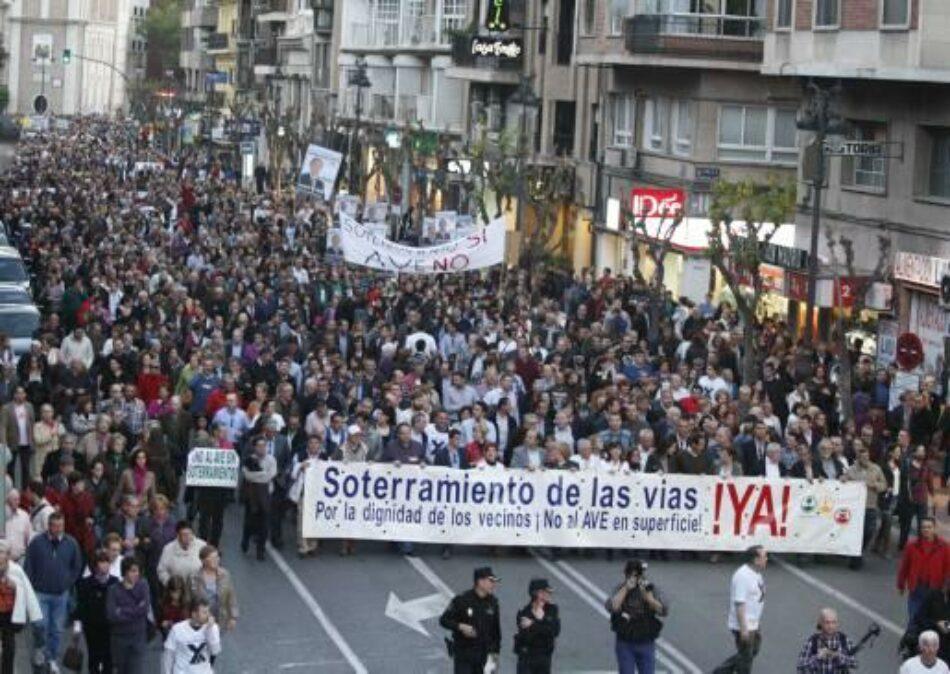 Cambiemos Murcia apoya la manifestación en Madrid en defensa del soterramiento