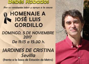La Asociación Sevilla Bebés Robados homenajeará a Jose Luis Gordillo el 5 de noviembre