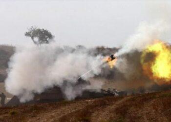 Artillería israelí bombardea la Franja de Gaza