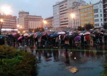 Manifestación de la industria auxiliar de Navantia Fene y Ferrol