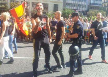 IU denuncia ante la CE las agresiones de grupos fascistas en la manifestación del 9-O en Valencia ante la pasividad de Delegación del Gobierno