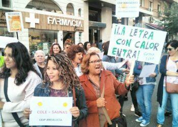 Ampas de Córdoba salieron a la calle por la Climatización sostenible en los centro públicos docentes
