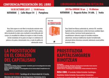 """Conferencia / Presentación del libro """"La prostitución en el corazón del capitalismo"""""""