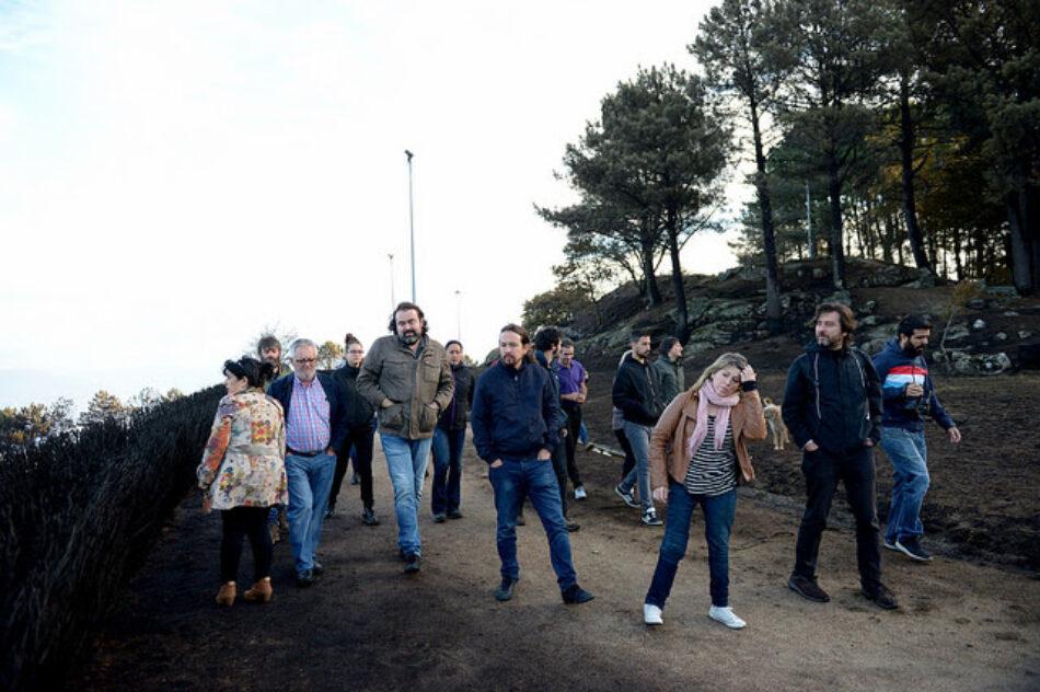 Pablo Iglesias reclama en Vigo una mayor inversión en la prevención de incendios