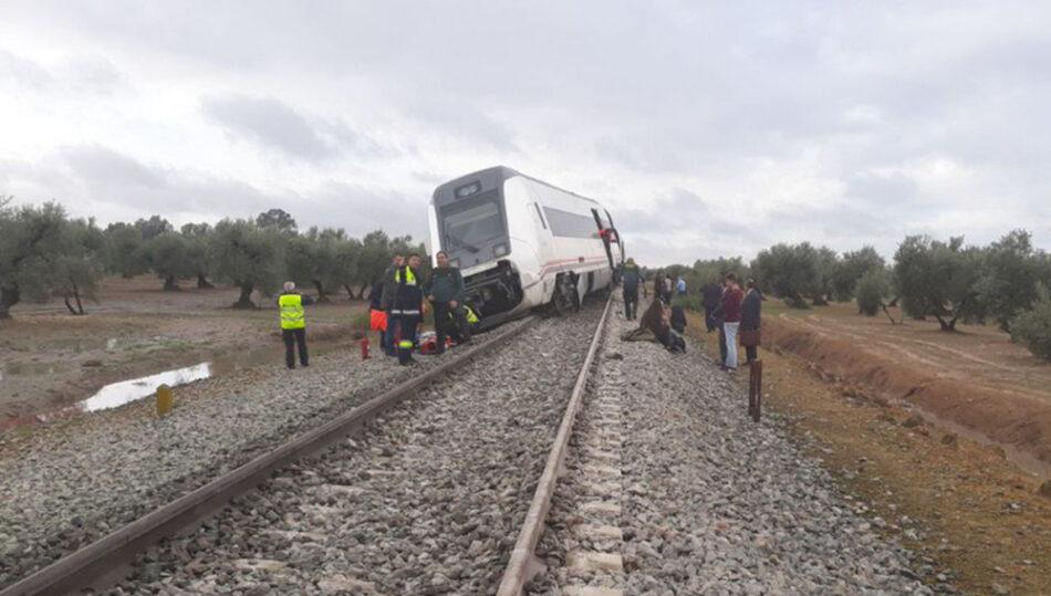 Unidos Podemos pide al Gobierno una 'investigación rigurosa' del accidente del tren Málaga-Sevilla