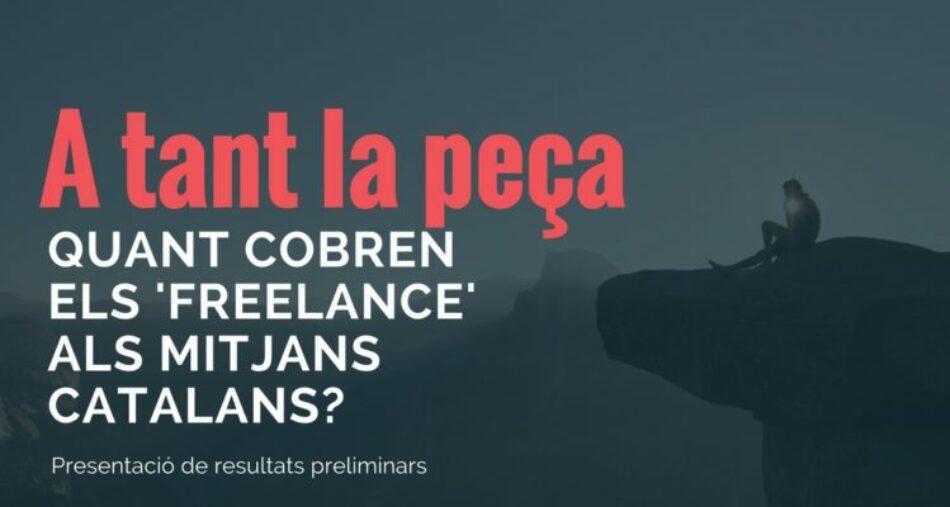 Encuesta «A tanto la pieza», realizada por el portal media.cat a periodistas freelance: «a 10 euros la crónica, a 28 el reportaje…»