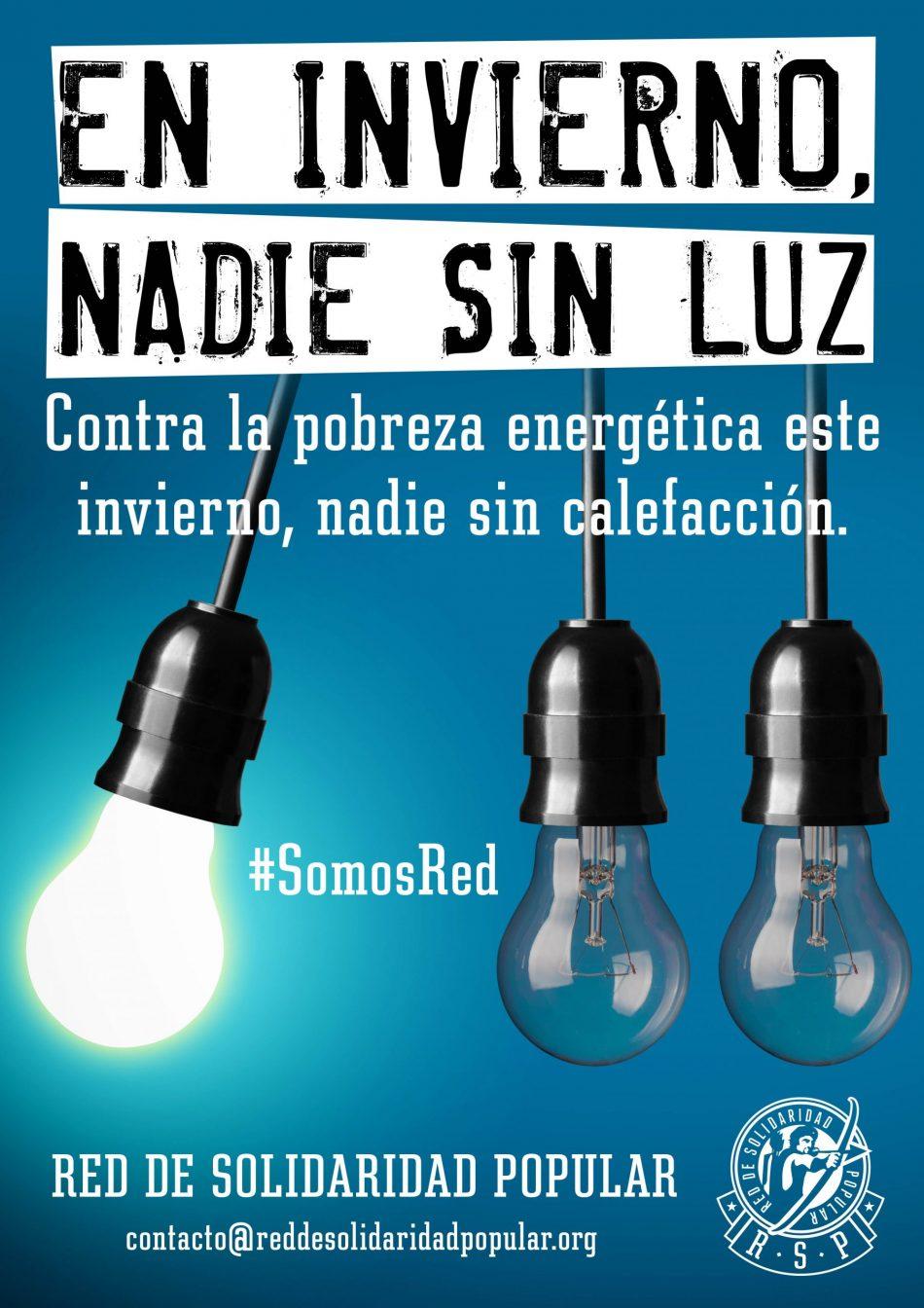 «En invierno, nadie sin luz»: campaña contra la pobreza energética