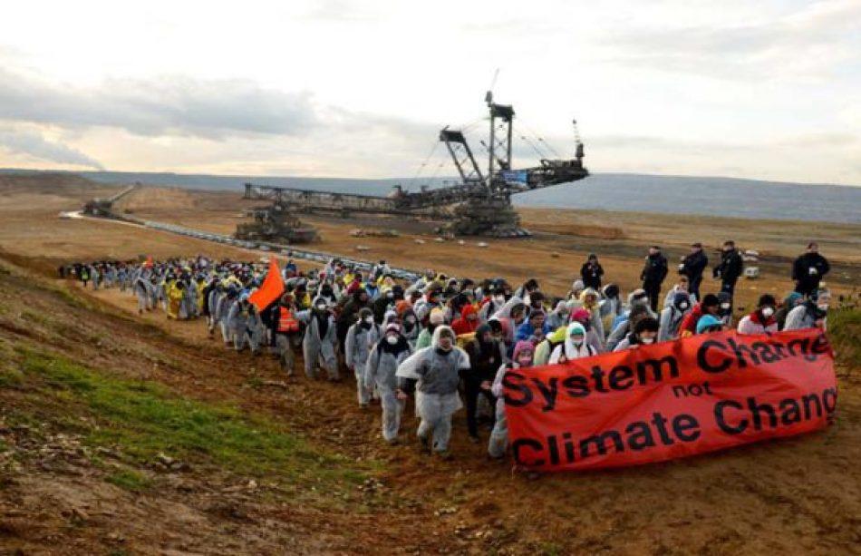 Activistas alemanes protestan contra el uso del carbón