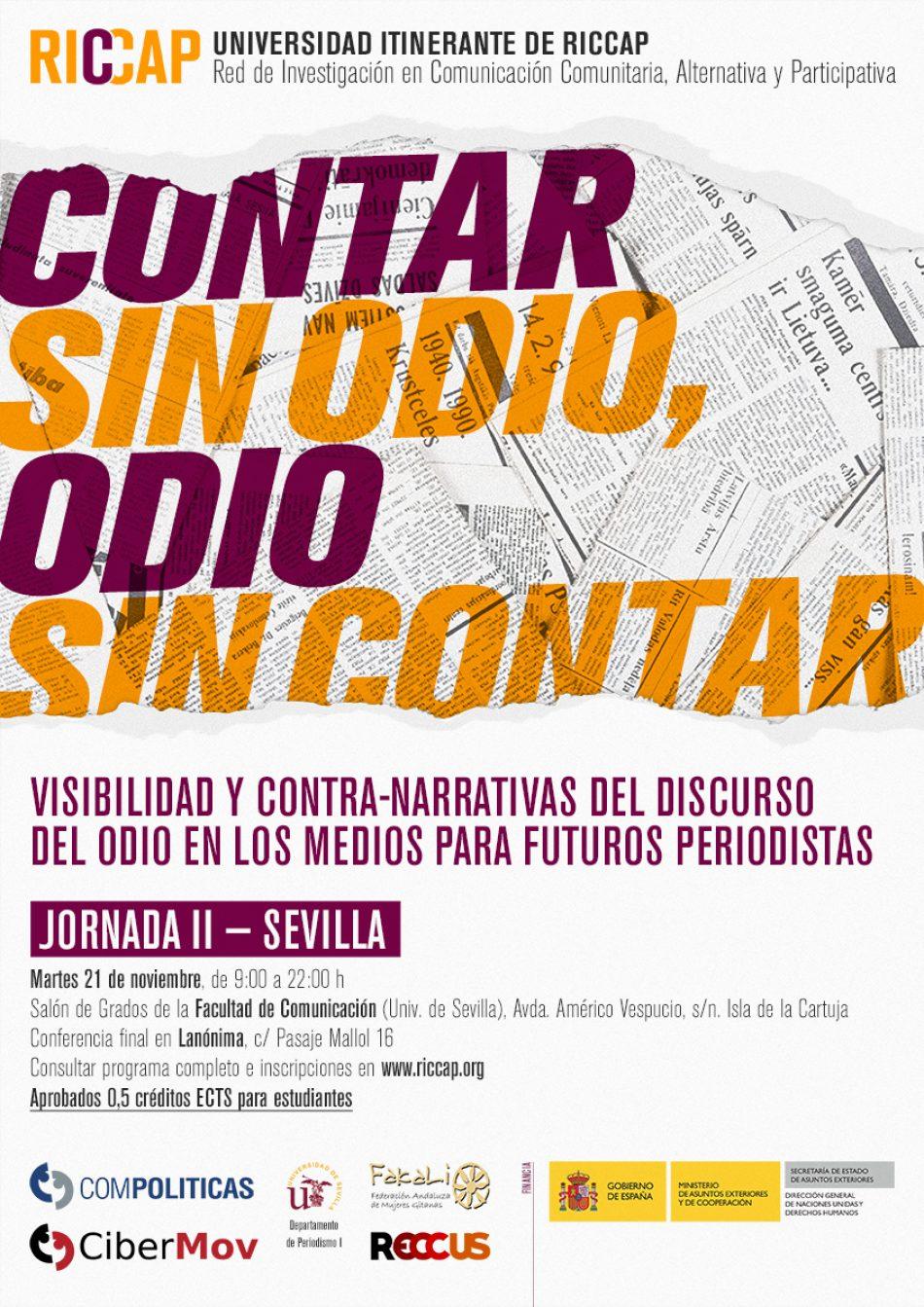 """Jornadas sobre el """"discurso del odio"""" en los medios de comunicación en la Facultad de Comunicación y Lanónima"""