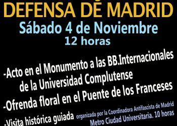 Homenaje a la Defensa de Madrid, en su 81 Aniversario