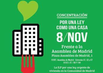 La Asamblea de Madrid lleva al pleno de mañana la ILP por el derecho a la vivienda