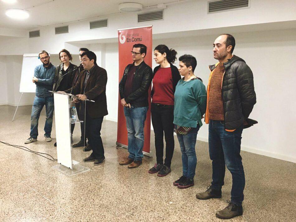 Les bases de Barcelona En Comú decideixen posar fi al pacte municipal amb el PSC