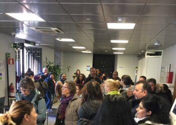 Plataformas de Afectados por la Hipoteca y grupos de vivienda de Madrid ocupan la sede del BBVA en Recoletos