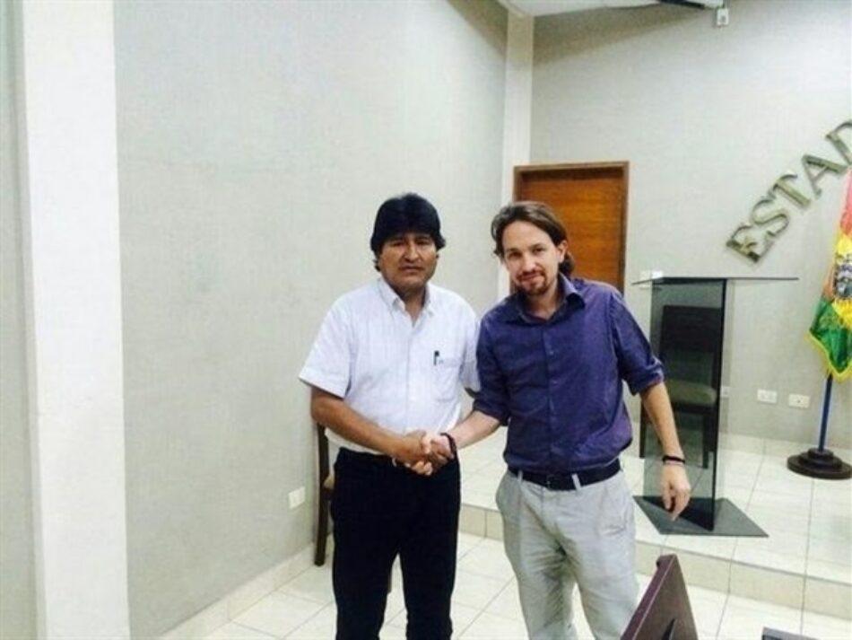 Una delegación de Podemos visita el Estado Plurinacional de Bolivia